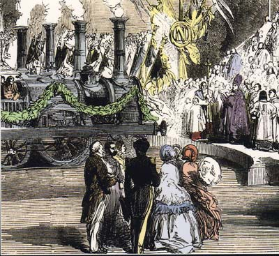 Inauguration du train à Strasbourg en 1852
